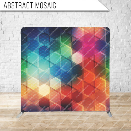 Single-sided Pillow Cover Backdrop  (Abstract Mosaic)