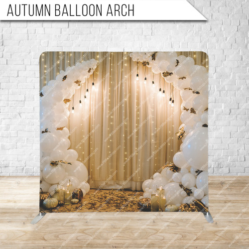 Single-sided Pillow Cover Backdrop  (Autumn Balloon Arch)