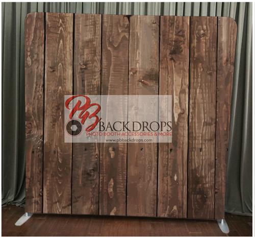 Single-sided Custom backdrop - Dark Wood | PB Backdrops