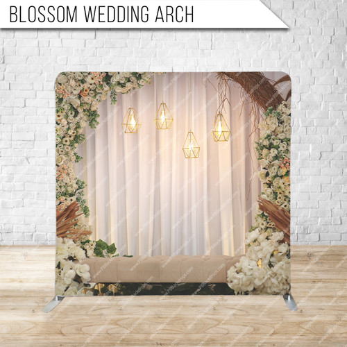 Single-sided Pillow Cover Backdrop  (Blossom Wedding Arch)