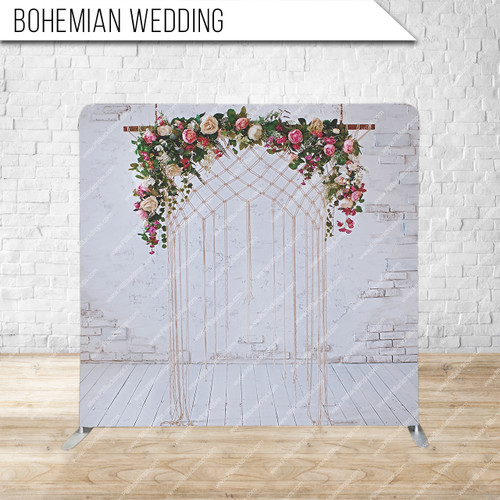 Single-sided Pillow Cover Backdrop  (Bohemian Wedding)