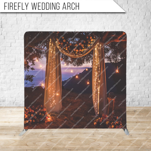 Single-sided Pillow Cover Backdrop  (Firefly Wedding Arch)
