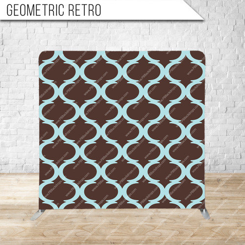 Single-sided Pillow Cover Backdrop  (Geometric Retro)