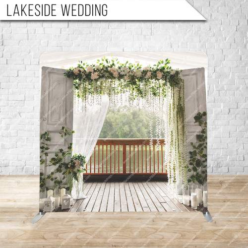 Single-sided Pillow Cover Backdrop  (Lakeside Wedding)