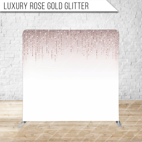 Single-sided Pillow Cover Backdrop  (Luxury Rose Gold Glitter)