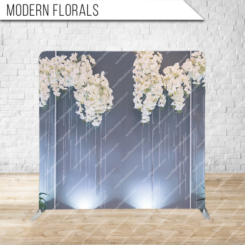 Single-sided Pillow Cover Backdrop  (Modern Florals)