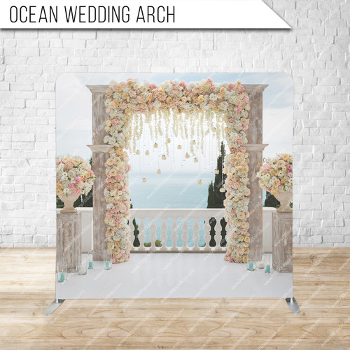 Single-sided Pillow Cover Backdrop  (Ocean Wedding Arch)