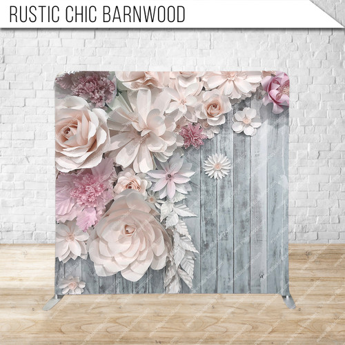 Single-sided Pillow Cover Backdrop  (Rustic Chic Barnwood)