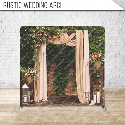Single-sided Pillow Cover Backdrop  (Rustic Wedding Arch)