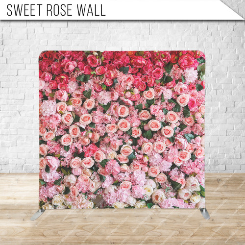 Single-sided Pillow Cover Backdrop  (Sweet Rose Wall)