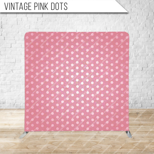 Single-sided Pillow Cover Backdrop  (Vintage Pink Dots)