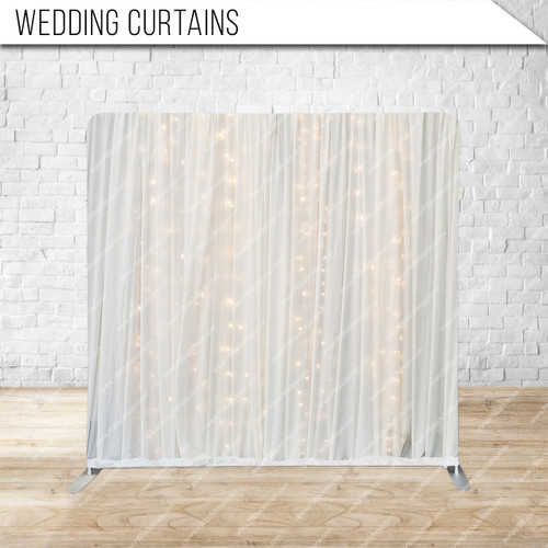 Single-sided Pillow Cover Backdrop  (Wedding Curtains)