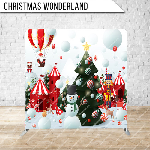 Single-sided Pillow Cover Backdrop  (Christmas Wonderland)