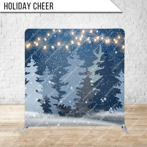 Single-sided Pillow Cover Backdrop  (Holiday Cheer)