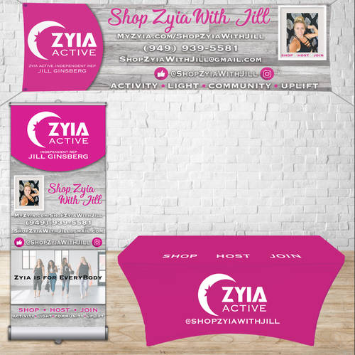 Zyia Bundle Package (Banner, retractable and table cover)