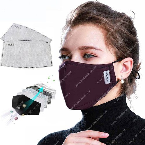 PPE Cotton Masks - Heavy-Duty, with Filter  Pack of 4