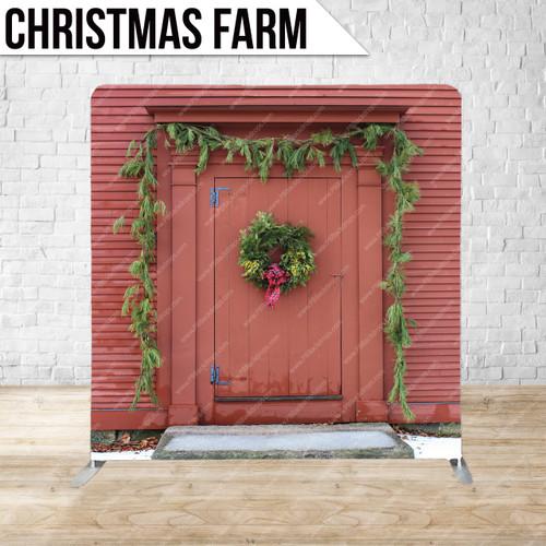 Single-sided Pillow Cover Backdrop  (Christmas Farm)