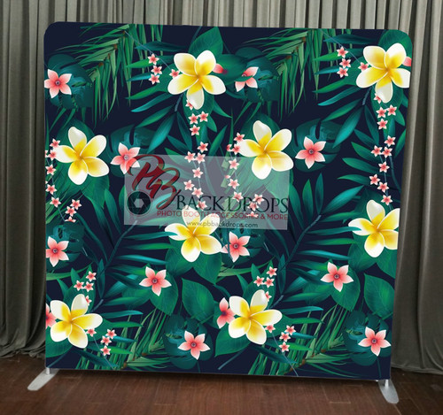 Single-sided Custom backdrop - Aloha Floral | PB Backdrops