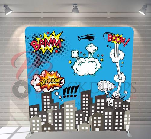 Single-sided Custom backdrop - Super Hero | PB Backdrops