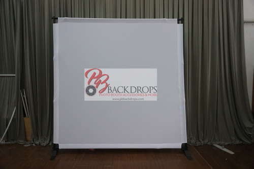 8x8 Printed Tension fabric backdrop - White | PB Backdrops