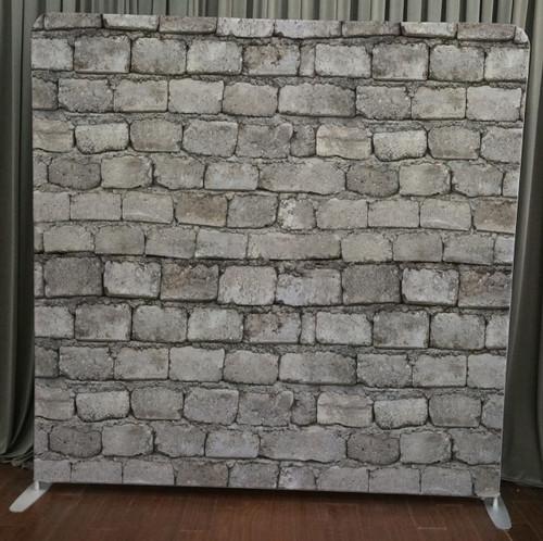 Single-sided Custom backdrop - White wash brick wall | PB Backdrops