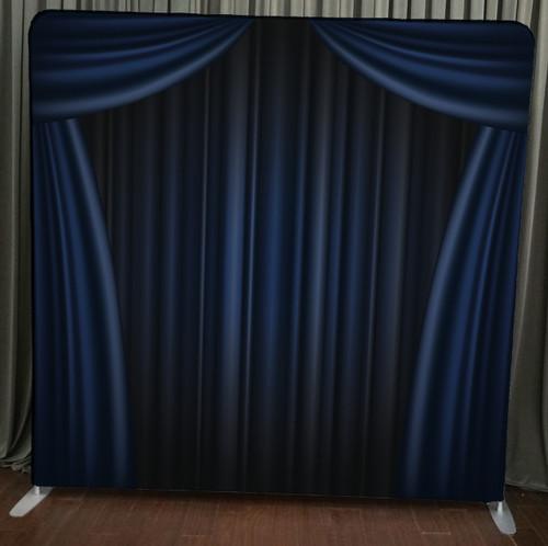 Single-sided Custom backdrop - Blue Curtain | PB Backdrops