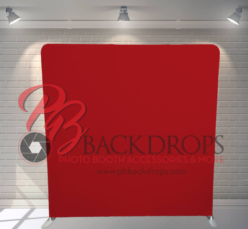 Single-sided Custom backdrop - Red | PB Backdrops