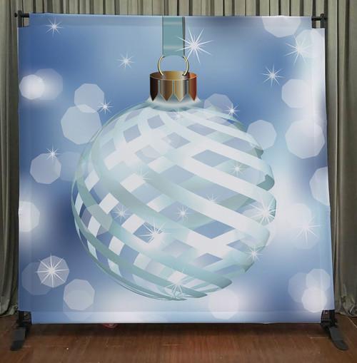 8x8 Printed Tension fabric backdrop - Christmas Oranament   PB Backdrops