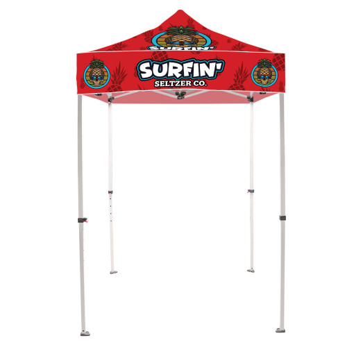 PB ONE CHOICE 5 ft.Steel Canopy Tent (Graphic Package w/ White Trim)