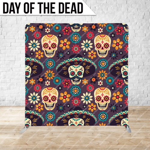 Single-sided Pillow Cover Backdrop  (Day of the Dead)
