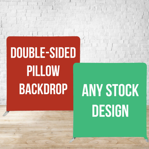 Double Side Pillow Cover Backdrop  (stock designs only)