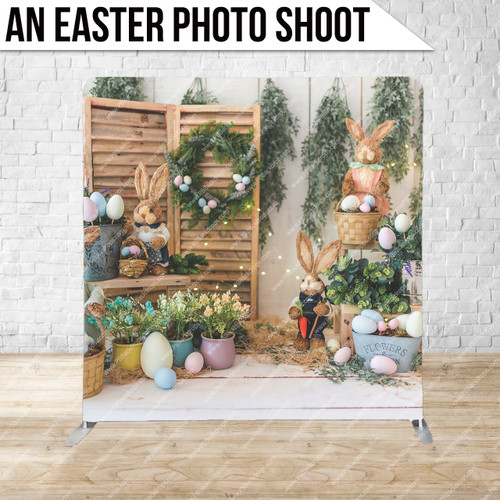 Single-sided Pillow Cover Backdrop  (An Easter Photo Shoot)