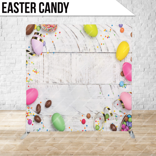 Single-sided Pillow Cover Backdrop  (Easter Candy)