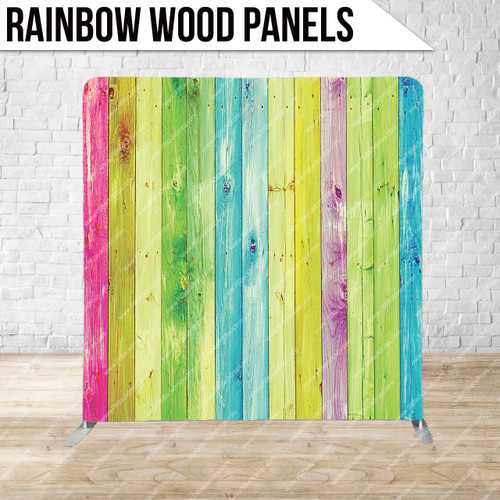 Single-sided Pillow Cover Backdrop  (Rainbow Wood Panels)