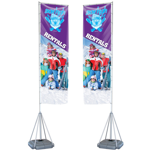 PB CHOICE® Mondo Flag 13 ft. (Double-Sided Graphic Package)