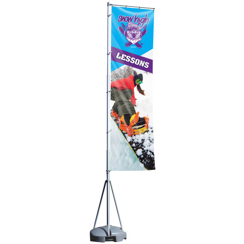 PB CHOICE® Mondo Flag 17 ft. (Single-Sided Graphic Package)