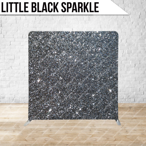 Single-sided Pillow Cover Backdrop  (Little Black Sparkle)
