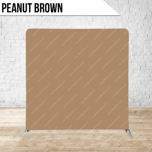 Single-sided Pillow Cover Backdrop  (Peanut Brown)