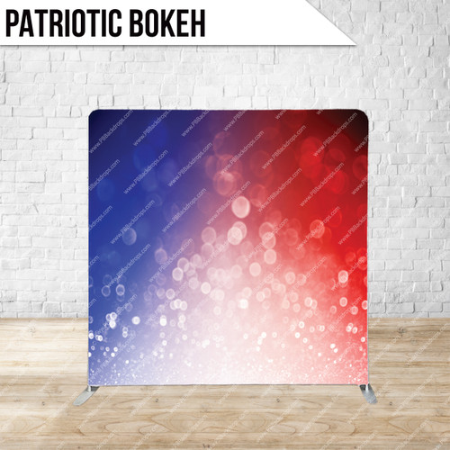 Single-sided Pillow Cover Backdrop  (Patriotic Bokeh)