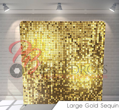 Single-sided Custom backdrop (Large Gold Sequins)