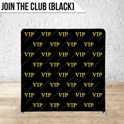 Single-sided Pillow Cover Backdrop  (Join the Club (black version) )