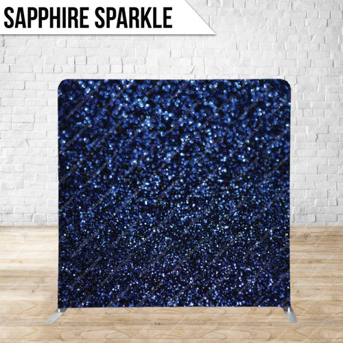 Single-sided Pillow Cover Backdrop  (Sapphire Sparkle)