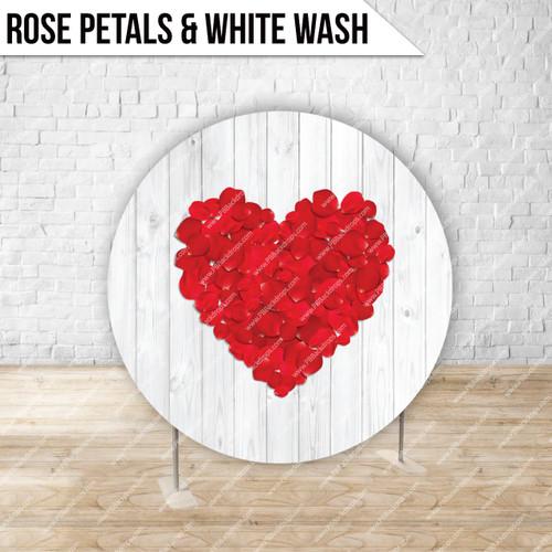 Circle Display 7ft. (Rose Petals & White Wash) Single side