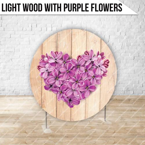 Circle Display 7ft. (Light Wood with Purple Flowers) Single side