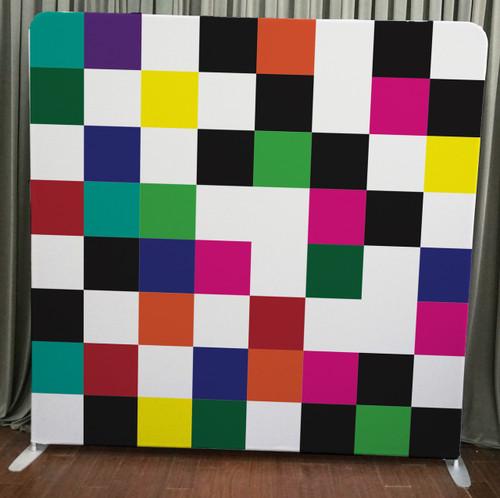 Single-sided Custom backdrop - Colorful Checkers   PB Backdrops