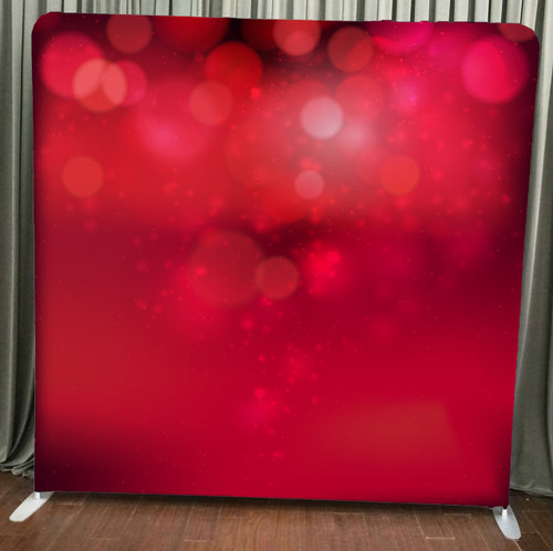 Single-sided Custom backdrop - Red Bokeh | PB Backdrops