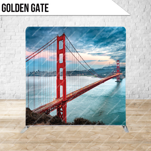 Single-sided Pillow Cover Backdrop  (Golden Gate)