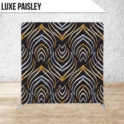 Single-sided Pillow Cover Backdrop  (Luxe Paisley)