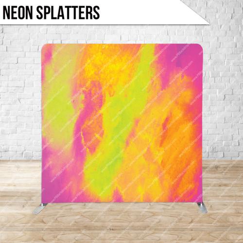 Single-sided Pillow Cover Backdrop  (Neon Splatters)