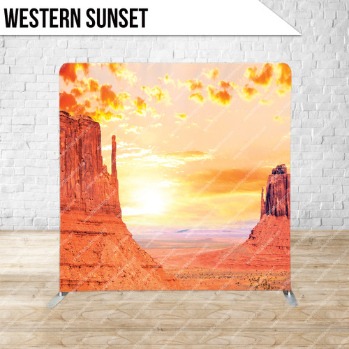 Single-sided Pillow Cover Backdrop  (Western Sunset)
